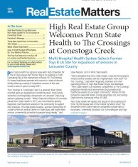 A screen capture of the Fall 2020 Real Estate Matters newsletter first page.