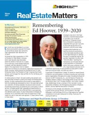 A newsletter cover page featuring Ed Hoover remembrance article.