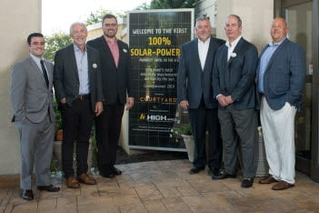 High Hotels Ltd.'s Courtyard by Marriott-Lancaster goes 100% solar-powered.