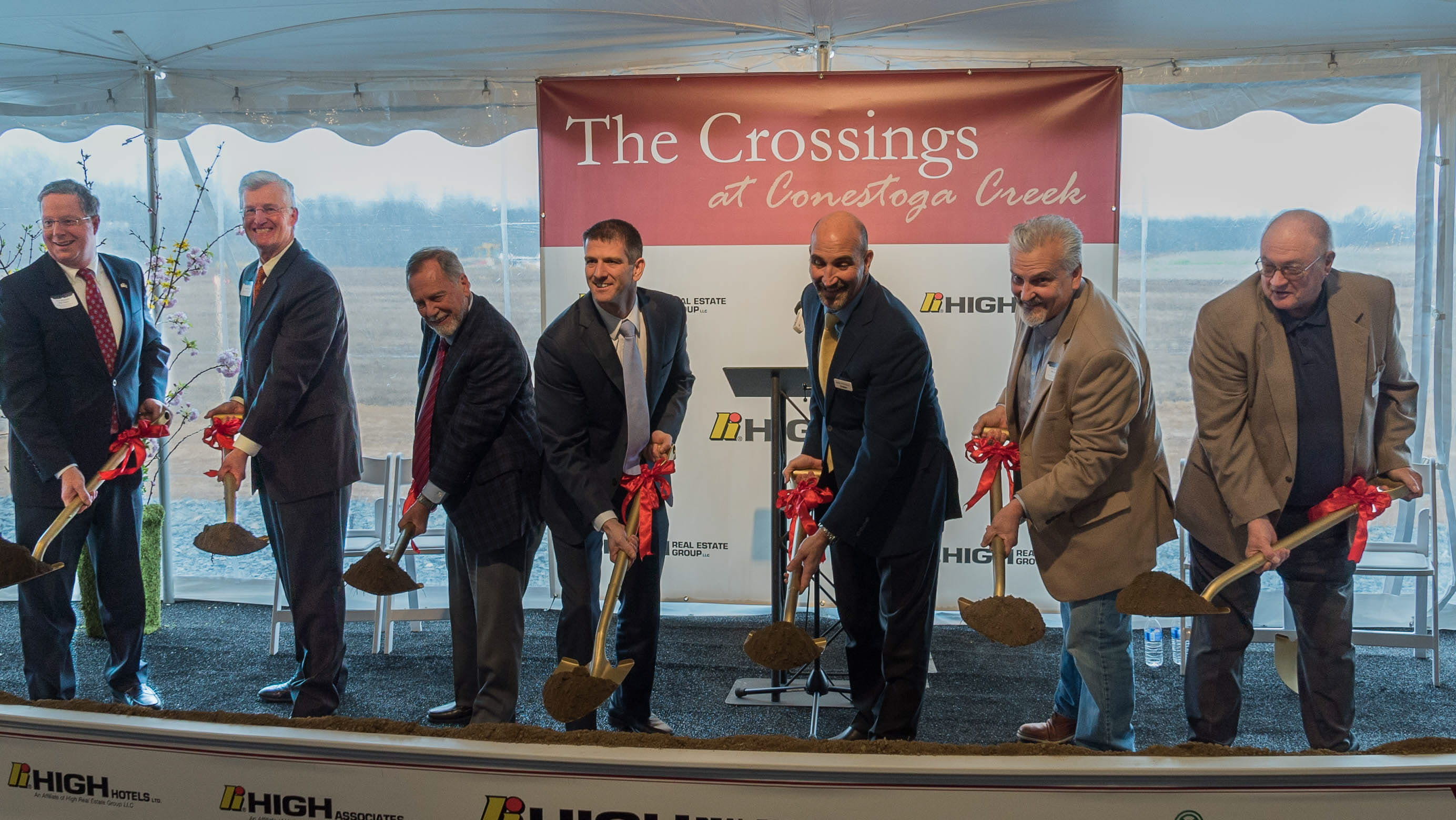 High Real Estate Group broke ground on The Crossings at Conestoga Creek, a mixed use development in Lancaster that will be anchored by Wegmans, opening in 2018.